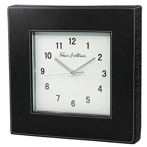 FRANCIS MONTESINOS M-131 - Reloj de Pared Blanco y Negro (25 x 25 x 4 cm)