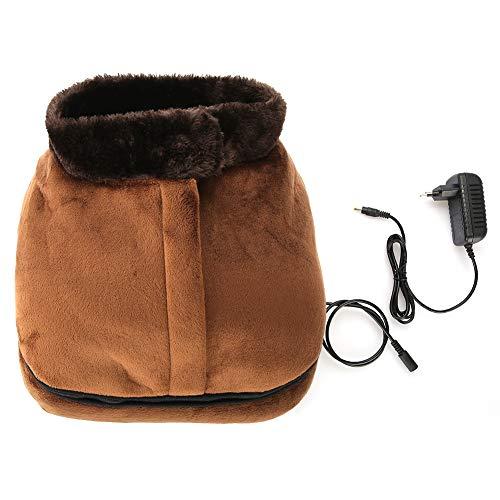 2 EN 1 masajeador de pies eléctrico con función de calentamiento, calentador de pies portátil calentado masajeador para el cuidado y la relajación del pie