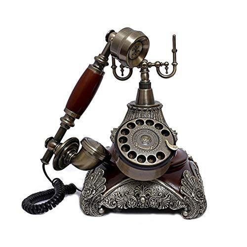 HJHJK Telefono Fijo Vintage Retro, Clásico Retro Estilo Vintage Dial Giratorio Teléfono Fijo Características Timbre Tradicional, Teléfono Fijo Europeo de Oficina en CasaTeléfonos analógicos