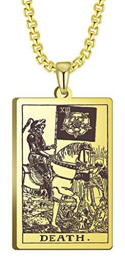 VASSAGO Der erste Kartensatz in den Tarot-Anhänger-Halsketten Die wichtigsten Arcana-Tarot-Karten Edelstahlschmuck