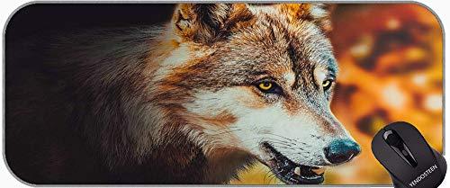 Almohadilla de Escritorio Almohadilla de Teclado, Midnight Blue Wolf Oficina Mouse Pad