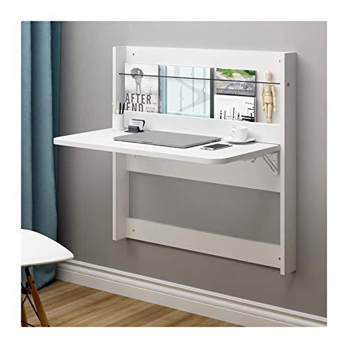 GLF Mesa plegable de pared, paneles de madera maciza espesada, diseño de escritorio de gran superficie, estable y duradera, 2 colores, 2 tamaños (color: blanco, tamaño: 63,5 cm x 80 cm)