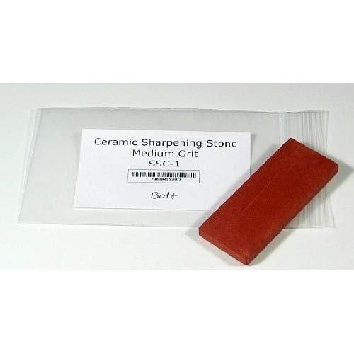 "BOLT Ceramic Sharpening Stone 3"" x 1 1/4"" x 1/4"" Medium Grit"