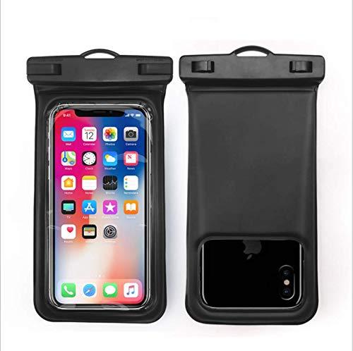 Funda impermeable para teléfono móvil, flotante, impermeable, de TPU transparente, bolsa seca con cordón para teléfono móvil de 5 a 6.2 pulgadas