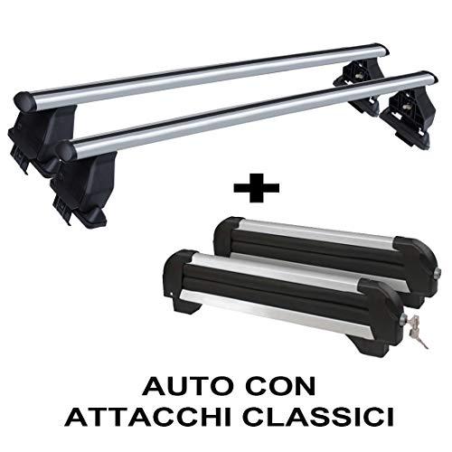 Barras portaequipajes Giulietta 5P desde 2010 en adelante aluminio más portaesquís