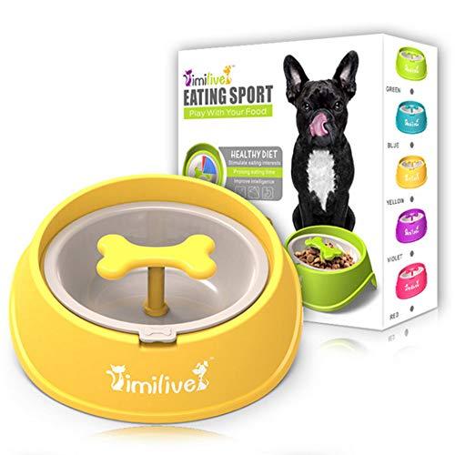 Generic Langlebig und erschwinglich für Hunde und Katzen, tropfendes Wasser, lustige Knochenform, langsamer Futternapf für Hunde und Katzen