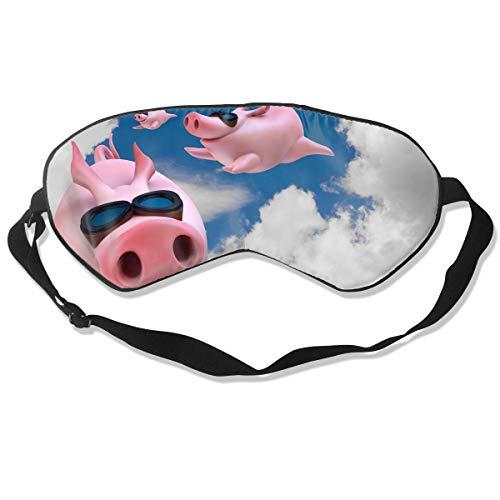 Oogmasker Roze Vlieg Varken Slapen Masker Verstelbaar Ademend Slaap Masker Slapende Slaap Ogen Masker Oogschaduw Blindfold