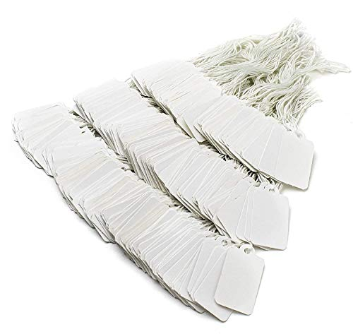 Bastex 500 pack Price Tags, Labels, Sale Tag. Tags with String attached. Hang tags Label for Stores, Jewelry, Merchandise, Clothing, Garage Sale, Yard Sale, Consignment Sale, 3.5cm x 2.2 cm