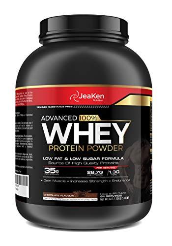 JeaKen - PROTEINA WHEY ISOLATE- Proteinas para Aumentar Masa Muscular y Proteinas para Adelgazar- Pre-entrenamiento, Recuperación y Mantenimiento Muscular- 64 Porciones (35 g por porción), 2.25 kg