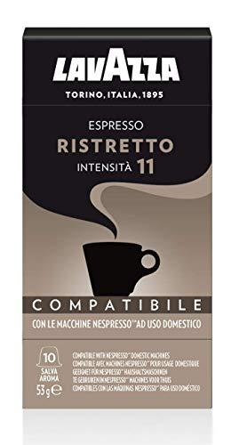 Lavazza 100 Capsule Compatibili Nespresso, Espresso Ristretto, 10 Confezioni da 10 Capsule