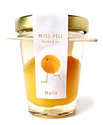 MISS PELL MARIE Marille & Gin   Kombination aus einer Marillenfrucht eingelegt in köstlichem London Dry Gin genussfertig im Glas 50ml