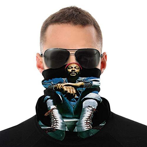 YUIT Marvin Gaye 3D-Druck Bandanas Schutzreitkopfbedeckung Winddichte Sturmhauben Gesicht Bandana Schal Sonne UV-Staubschutz