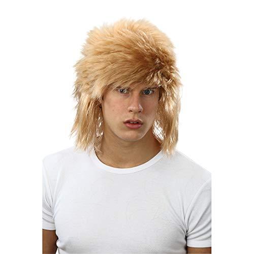 Blonde Shaggy Wig! 80s Fancy dress! Bon Jovi! (peluca)