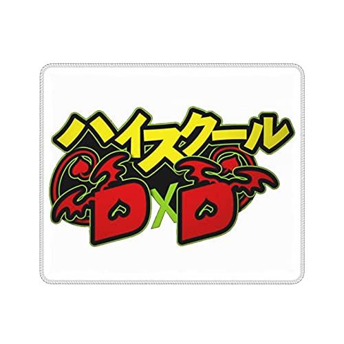 Tonyjto - Alfombrilla de ratón con base antideslizante y bordes cosidos Akeno Himejima - High School DxD adecuado para oficina, hogar, juegos, ordenador, ordenador portátil, 21,1 x 26,2 cm