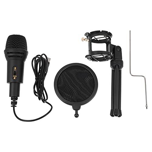 HEALLILY Micrófono Condensador Micrófono de Mesa USB Micrófono de Escritorio con Cable Micrófono de Ordenador con Micrófono Compatible Conjunto para Mesa de Fiesta Portátil ()