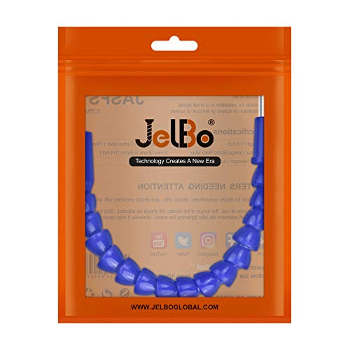 JelBo 11.8 Inch Flexible Shaft Extension Bits, 1/4'' Hex Shank Magnetic Screwdriver Bit Holder Connect Link, Flex Drive Quick Connect Adapter of Power Tools Accessories by Electric Drill(Blue)