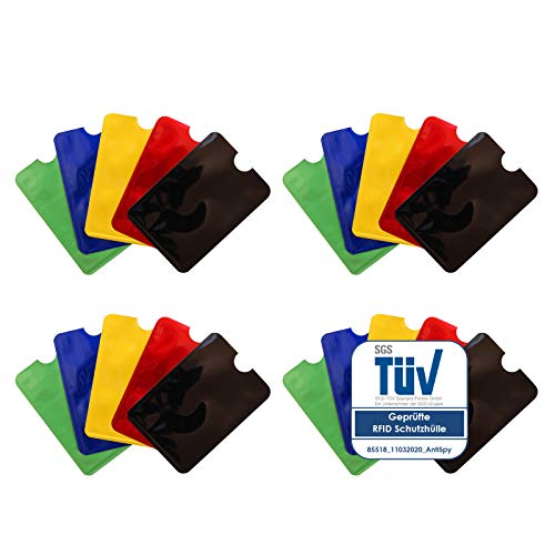 RFID Karten Schutzhülle NFC Blocker Kreditkarte EC Karte Abschirmung - 20er Pack