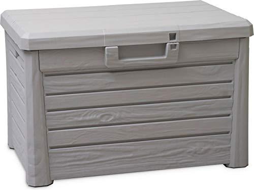 Coffre de Jardin en Plastique avec Espace de Rangement 120 l - Taille S - 73 x 50,5 x 46,5 cm
