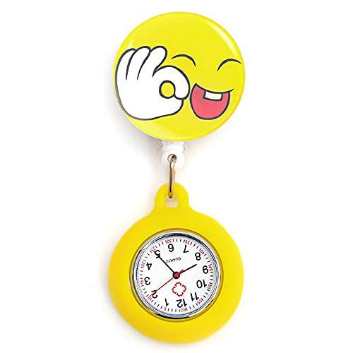 LLRR Reloj Médico,Nueva luz Nocturna de Silicona Doctor Nurses, Digital Table-BB escalable,Ajustable Longitud Reloj de Bolsillo