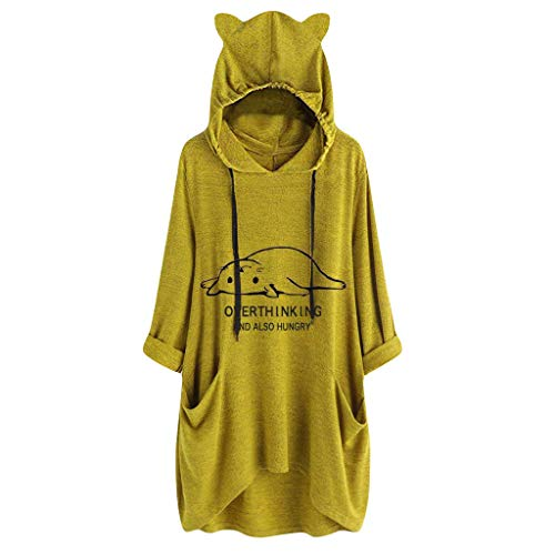 ROVNKD Longpullover für Damen Oversize Pullover Damen Oversize Tshirts Damen Emma Pullover pulloverkleid Yoga Hose sporttop