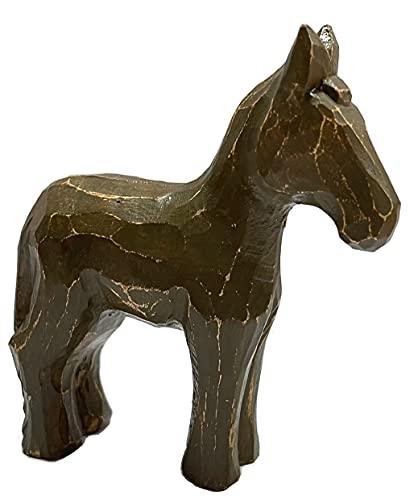 Lâmina de madeira feita à mão com réplica de cavalo para corredores BLADERUNNER marrom
