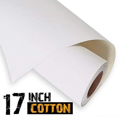 """Rollo de lienzo para inyección de tinta de 13"""", 100% algodón, 18 m, 340 g/m²"""