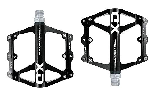 FrontStep Pedales Antideslizantes Generales de Aluminio Pedales de Bicicleta Ligeros con Eje de Acero CR-Mo para MTB/Pedal de Bicicleta de montaña/Pedal BMX