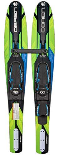 O'Brien Jr Vortex Kids Combo Water Skis, 54''', Green (2211134)