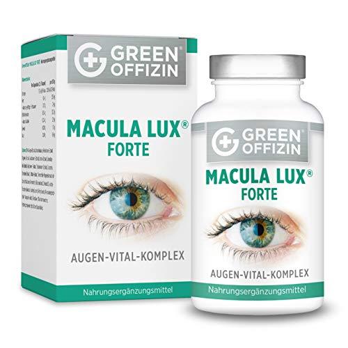 MACULA LUX FORTE Augen-Vitamine Kapseln Hochdosiert - Spezial Sehkraft Augen-Schutz Formel mit Lutein, Zeaxanthin, Lycopin, Vitamin A, C, B, Zink, DHA + Nährstoffe (120 Kapseln vegan)