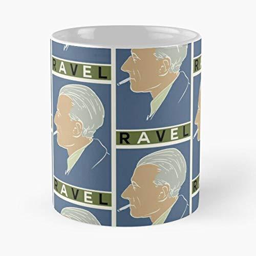 Maurice Ravel – Best White Ceramic Coffee Mug 11 oz 15 oz Que Je Personalise !
