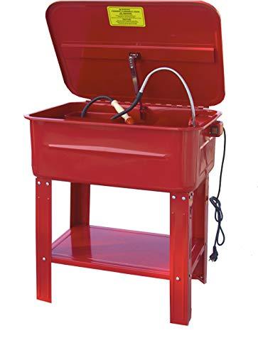 Notek Srl Vasca di Lavaggio per Attrezzi da Officina - Lavapezzi lavaparti 75 L con Pompa 26 W - 20 Litri/Minuto. Vassoio e Cesto Rimovibile