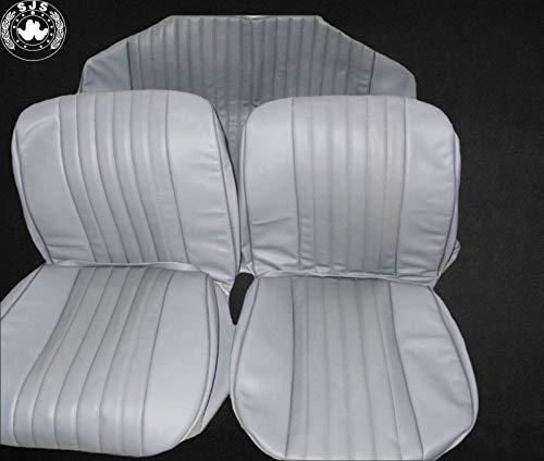 SJS CARSTYLING Sitzbezüge, Bezüge passend für VW Käfer 1300-1303 Limousine, grau mit Perforation NEU