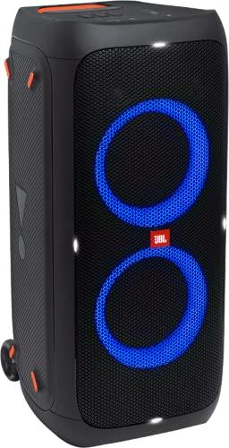 JBL PARTYBOX310 Bluetoothスピーカー ワイヤレス IPX4/マイク入力/ギター入力搭載/キャスター付き ブラック JBLPARTYBOX310JN 【国内正規品/メーカー 付き】