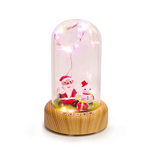 kashyk Bluetooth Lautsprecher ,Festival Geschenk Romantische Glasabdeckung LED Micro Landschaft Bluetooth Lautsprecher Geeignet für Heimtextilien