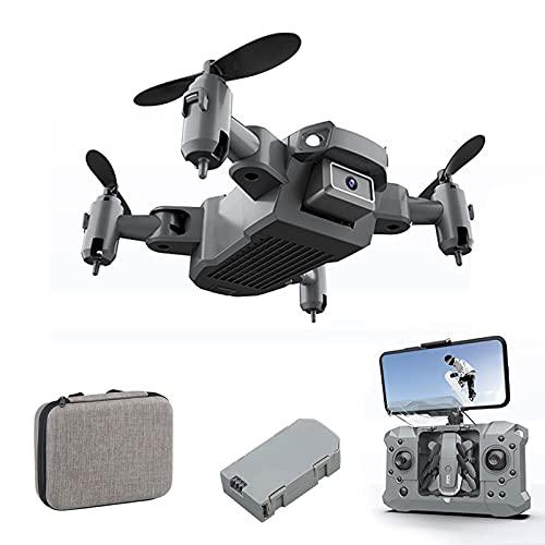 WYZXR Drone con videocamera 4K per Adulti, Motore Senza spazzole 2.4G WiFi Drone Video in Diretta FPV, quadricottero RC con Ritorno Automatico a casa, seguimi 1080P-1