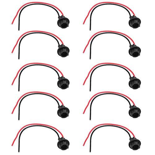 Qiilu Partsam 5X T10 vervangende stopcontacten, T10 LED-lampen Pigtail-aansluitingen Verlengde kabelboom Pigtail voor cabinedak met markeringslicht