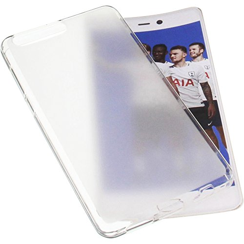 foto-kontor Tasche für Leagoo T5C Gummi TPU Schutz Handytasche transparent weiß