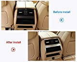 YUECHI Car Rear Row Air Conditioning Outlet Vent Frame Sticker for BMW 5 Series F10 520 525 2011-2017 ABS Interior Accessories (Silver)