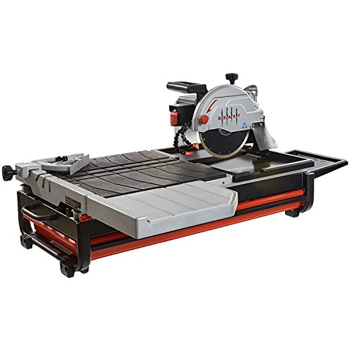 Lackmond Beast Wet Tile Saw - 10' Portable Jobsite Cutting Tool with 15 AMP Motor & Up to 1-7/8' Depth of cut at 45° - BEAST10