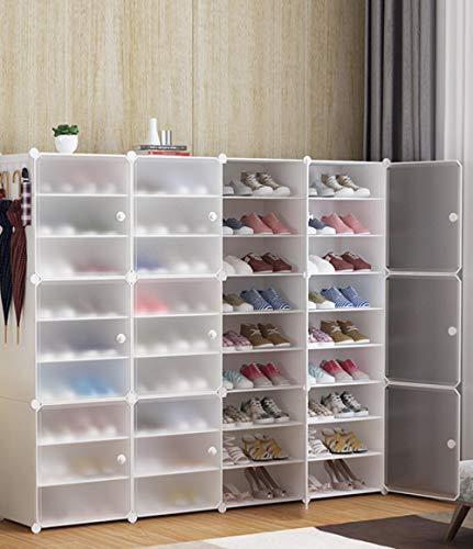 Almacenamiento De Bastidores De Zapatos, Organizador De Almacenamiento De Cubos De Resina, Estante De Gabinete De Zapatos para Ahorrar Espacio, Estantes De Zapatos para Zapatos, Botas, Zapatillas