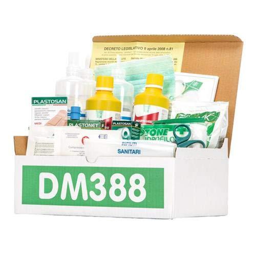 KIT REINTEGRO pacchetto ricambio per cassetta medica di pronto soccorso con MISURATORE DI PRESSIONE DIGITALE e CARTELLO per aziende con 3 o più lavoratori