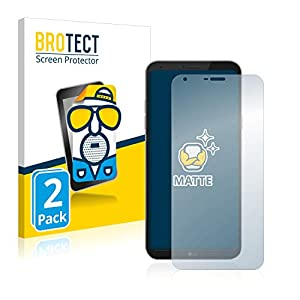 BROTECT Protector Pantalla Anti-Reflejos Compatible con LG Q6 Plus (2 Unidades) Pelicula Mate Anti-Huellas