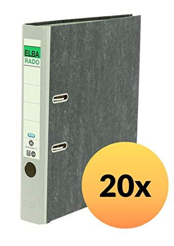 20x Aktenordner A4 80mm breit Orange Büroringordner Briefordner 8cm wolkenmarmor