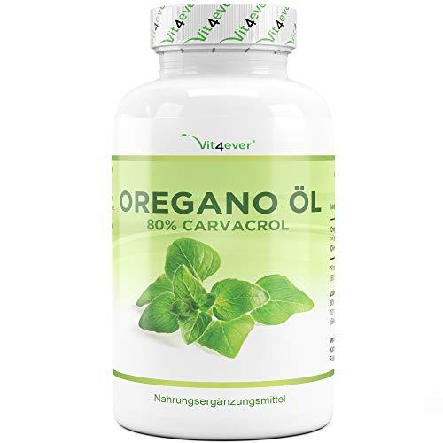Oregano Öl - 120 Kapseln mit 150 mg - Premium: 80% Carvacrol & 10-fach konzentriert - 100% Oreganoöl aus Frankreich - Origanum vulgare - Laborgeprüft - Hochdosiert