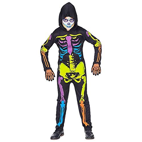 Widmann 70276 Kinderkostüm Skelett, Jungen, Mehrfarbig, 128 cm