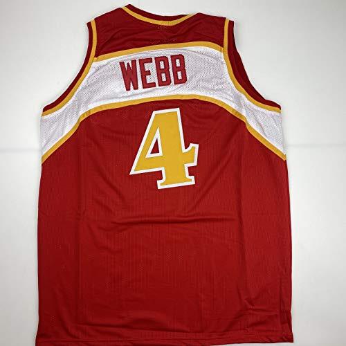 Unsigned Spud Webb Atlanta Red Custom Stitched Basketball Jersey Size Men's XL New No Brands/Logos