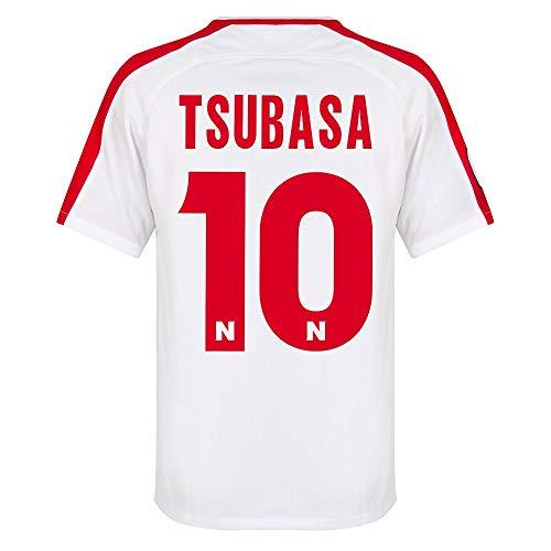 Captain Tsubasa Nr.10 Nankatsu Shogaku Offizielle Home Trikot 2 (weiß/rot) - XXL