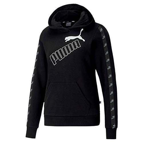 PUMA Damen Amplified Hoodie TR Pullover, Black, XS