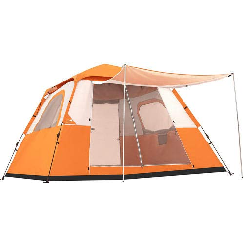 GFSDGF 6 Person Family Camping Tent 2 Doors Family Large Tent 30 Seconds...