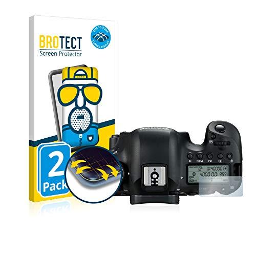 BROTECT Protector Pantalla Completa Mate Compatible con Canon EOS 6D Mark II (Pantalla de Hombro) (2 Unidades) 3D Curvo Película Protectora